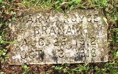BRANAM, MARY ROYCE - Roane County, Tennessee | MARY ROYCE BRANAM - Tennessee Gravestone Photos