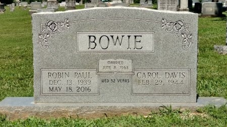 BOWIE, ROBIN PAUL - Robertson County, Tennessee | ROBIN PAUL BOWIE - Tennessee Gravestone Photos