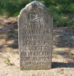 ELLIOTT, TALITHA JEANNEAN - Robertson County, Tennessee | TALITHA JEANNEAN ELLIOTT - Tennessee Gravestone Photos