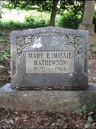 "MATHEWSON, MARY ELIZABETH ""MISSIE"" - Robertson County, Tennessee   MARY ELIZABETH ""MISSIE"" MATHEWSON - Tennessee Gravestone Photos"