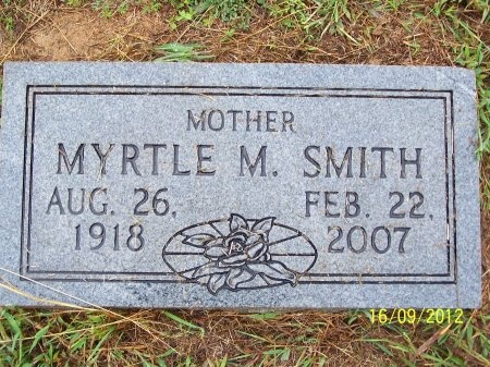SMITH, MYRTLE M. - Robertson County, Tennessee | MYRTLE M. SMITH - Tennessee Gravestone Photos