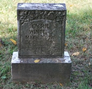 WINTERS, CYRIL - Robertson County, Tennessee | CYRIL WINTERS - Tennessee Gravestone Photos