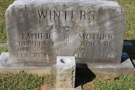 WINTERS, DEMPES TEASLEY - Robertson County, Tennessee | DEMPES TEASLEY WINTERS - Tennessee Gravestone Photos