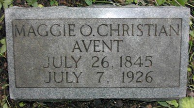 AVENT, MAGGIE O. - Rutherford County, Tennessee   MAGGIE O. AVENT - Tennessee Gravestone Photos