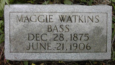 WATKINS BASS, MAGGIE - Rutherford County, Tennessee | MAGGIE WATKINS BASS - Tennessee Gravestone Photos