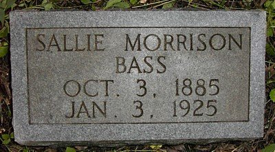 BASS, SALLIE MORRISON - Rutherford County, Tennessee   SALLIE MORRISON BASS - Tennessee Gravestone Photos
