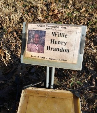 BRANDON, WILLIE HENRY - Rutherford County, Tennessee | WILLIE HENRY BRANDON - Tennessee Gravestone Photos