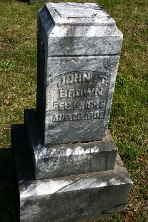 BROWN, JOHN T. - Rutherford County, Tennessee | JOHN T. BROWN - Tennessee Gravestone Photos