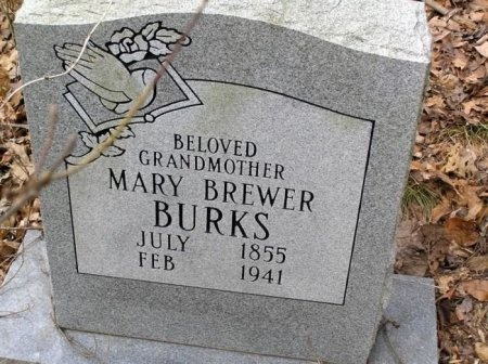 BREWER BURKS, MARY - Rutherford County, Tennessee | MARY BREWER BURKS - Tennessee Gravestone Photos