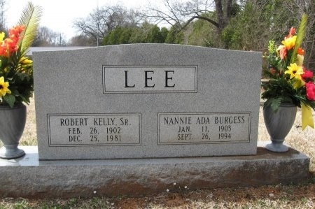 BURGESS LEE, NANNIE ADA - Rutherford County, Tennessee | NANNIE ADA BURGESS LEE - Tennessee Gravestone Photos