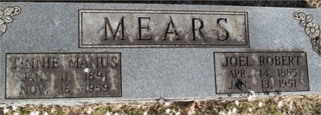 MEARS, JOEL ROBERT - Rutherford County, Tennessee | JOEL ROBERT MEARS - Tennessee Gravestone Photos