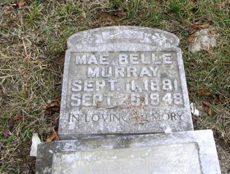 MURRAY, MAE BELLE - Rutherford County, Tennessee | MAE BELLE MURRAY - Tennessee Gravestone Photos