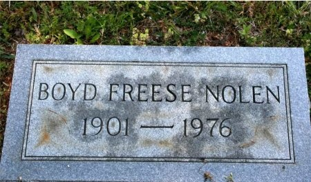 NOLEN, BOYD FREESE - Rutherford County, Tennessee | BOYD FREESE NOLEN - Tennessee Gravestone Photos