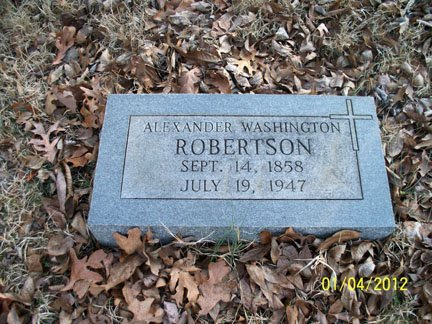 ROBERTSON, ALEXANDER WASHINGTON - Rutherford County, Tennessee | ALEXANDER WASHINGTON ROBERTSON - Tennessee Gravestone Photos
