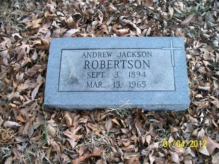 ROBERTSON, ANDREW JACKSON - Rutherford County, Tennessee | ANDREW JACKSON ROBERTSON - Tennessee Gravestone Photos