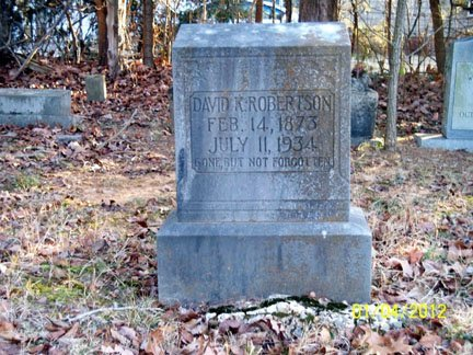 ROBERTSON, DAVID K. - Rutherford County, Tennessee | DAVID K. ROBERTSON - Tennessee Gravestone Photos