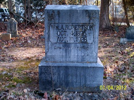 ROBERTSON, WILLIAM A. - Rutherford County, Tennessee | WILLIAM A. ROBERTSON - Tennessee Gravestone Photos