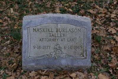 TALLEY, HASKELL BURLASON - Rutherford County, Tennessee | HASKELL BURLASON TALLEY - Tennessee Gravestone Photos