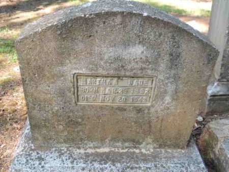 WADE, MARTHA A - Rutherford County, Tennessee | MARTHA A WADE - Tennessee Gravestone Photos