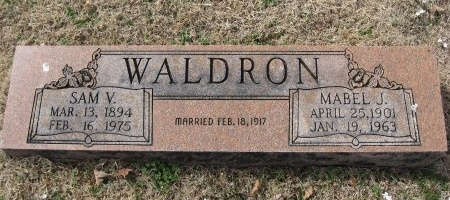 JOHNSON WALDRON, MABEL GRAY - Rutherford County, Tennessee | MABEL GRAY JOHNSON WALDRON - Tennessee Gravestone Photos