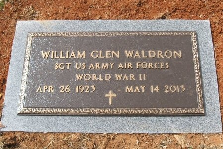 WALDRON (VETERAN WWII), WILLIAM GLEN - Rutherford County, Tennessee | WILLIAM GLEN WALDRON (VETERAN WWII) - Tennessee Gravestone Photos