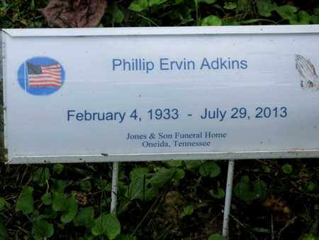 ADKINS, PHILLIP ERVIN - Scott County, Tennessee   PHILLIP ERVIN ADKINS - Tennessee Gravestone Photos
