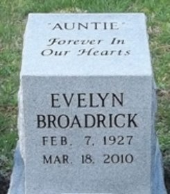 BROADRICK, EVELYN - Scott County, Tennessee | EVELYN BROADRICK - Tennessee Gravestone Photos