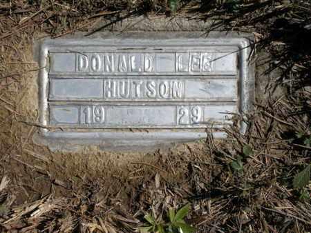 HUTSON, DONALD LEE - Scott County, Tennessee   DONALD LEE HUTSON - Tennessee Gravestone Photos