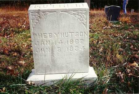 HUTSON, PHEBY - Scott County, Tennessee   PHEBY HUTSON - Tennessee Gravestone Photos