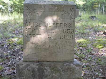 LEWALLEN JEFFERS, ALICE - Scott County, Tennessee | ALICE LEWALLEN JEFFERS - Tennessee Gravestone Photos