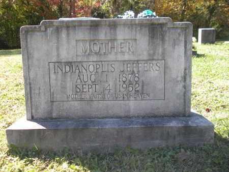 JEFFERS, INDIANOPLIS - Scott County, Tennessee | INDIANOPLIS JEFFERS - Tennessee Gravestone Photos