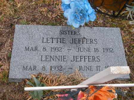 JEFFERS, LETTIE - Scott County, Tennessee   LETTIE JEFFERS - Tennessee Gravestone Photos