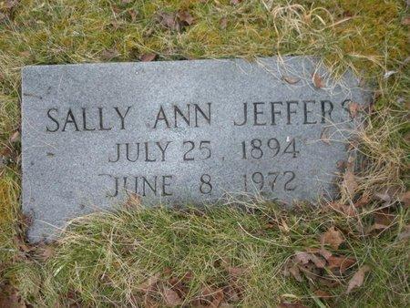 JEFFERS, SALLY ANN - Scott County, Tennessee | SALLY ANN JEFFERS - Tennessee Gravestone Photos