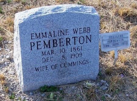 WEBB PEMBERTON, EMMALINE - Scott County, Tennessee | EMMALINE WEBB PEMBERTON - Tennessee Gravestone Photos