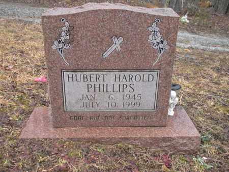 PHILLIPS, HUBERT HAROLD - Scott County, Tennessee | HUBERT HAROLD PHILLIPS - Tennessee Gravestone Photos