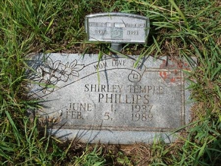 FOUST PHILLIPS, SHIRLEY TEMPLE - Scott County, Tennessee | SHIRLEY TEMPLE FOUST PHILLIPS - Tennessee Gravestone Photos