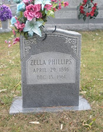 PHILLIPS, ZELLA - Scott County, Tennessee | ZELLA PHILLIPS - Tennessee Gravestone Photos