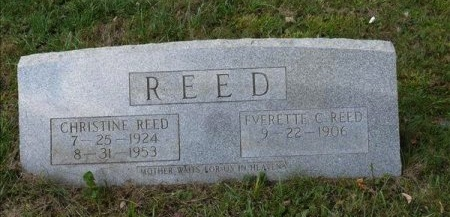 LOWE REED, CHRISTINE  - Scott County, Tennessee | CHRISTINE  LOWE REED - Tennessee Gravestone Photos