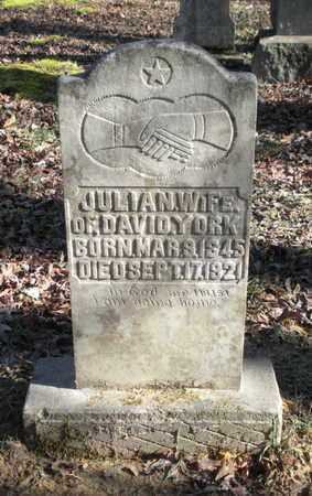 HOLLOWAY YORK, JULIAN - Scott County, Tennessee | JULIAN HOLLOWAY YORK - Tennessee Gravestone Photos