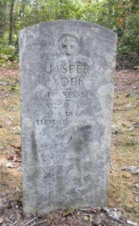 YORK (VETERAN WWI), JASPER - Scott County, Tennessee   JASPER YORK (VETERAN WWI) - Tennessee Gravestone Photos