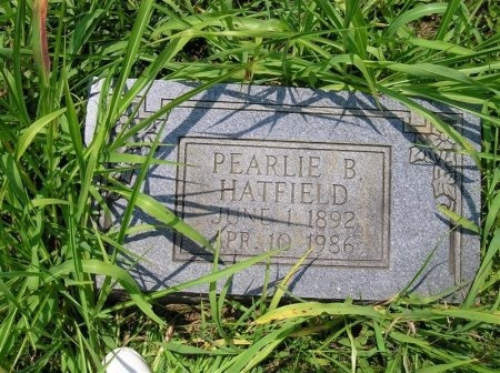 HATFIELD, PEARLIE - Sequatchie County, Tennessee | PEARLIE HATFIELD - Tennessee Gravestone Photos