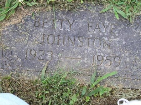 JOHNSTON, BETTY FAYE - Sequatchie County, Tennessee | BETTY FAYE JOHNSTON - Tennessee Gravestone Photos