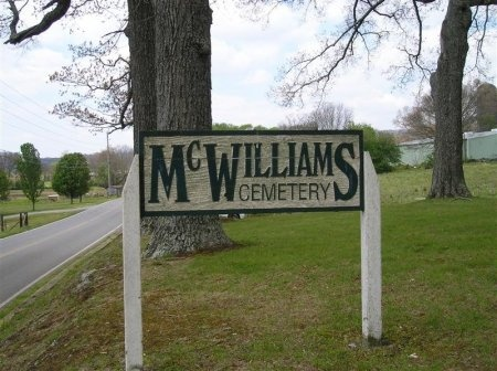 *MCWILLIAMS SIGN,   - Sequatchie County, Tennessee |   *MCWILLIAMS SIGN - Tennessee Gravestone Photos