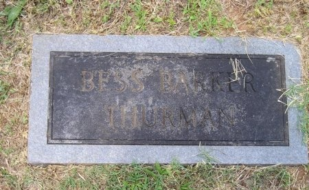 BARKER THURMAN, BESS - Sequatchie County, Tennessee | BESS BARKER THURMAN - Tennessee Gravestone Photos