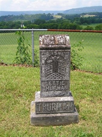 THURMAN, LETTIE - Sequatchie County, Tennessee   LETTIE THURMAN - Tennessee Gravestone Photos