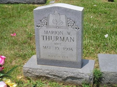 THURMAN, MARION W. - Sequatchie County, Tennessee   MARION W. THURMAN - Tennessee Gravestone Photos