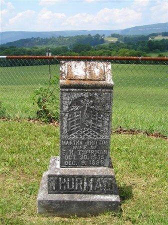THURMAN, MARTHA - Sequatchie County, Tennessee | MARTHA THURMAN - Tennessee Gravestone Photos