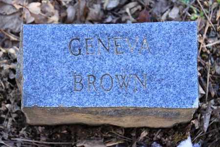BROWN, GENEVA - Sevier County, Tennessee | GENEVA BROWN - Tennessee Gravestone Photos