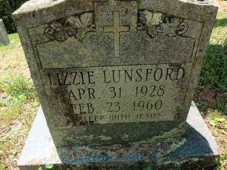 LUNSFORD, LIZZIE - Sevier County, Tennessee | LIZZIE LUNSFORD - Tennessee Gravestone Photos