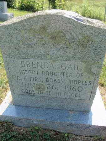 MAPLES, BRENDA GAIL - Sevier County, Tennessee | BRENDA GAIL MAPLES - Tennessee Gravestone Photos